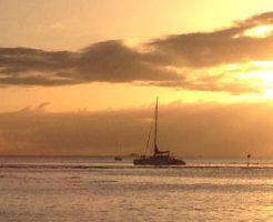 ハワイ夕陽